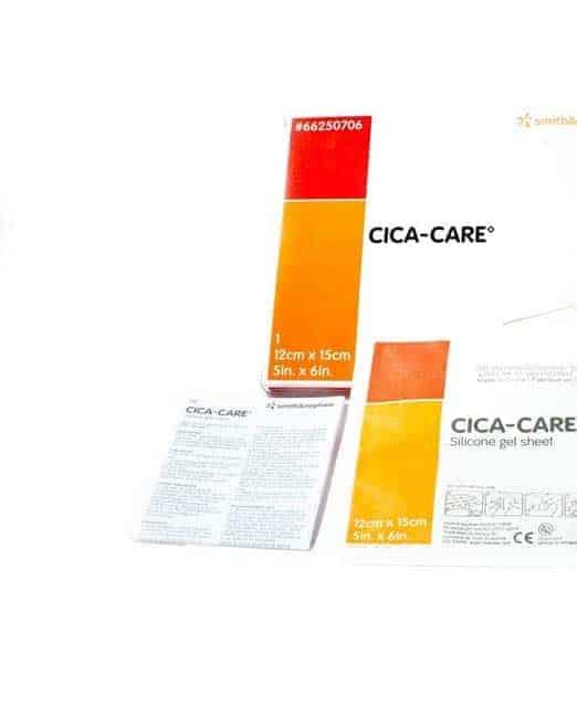 Cica-Care parches de gel de silicona 12×15cm (1 unidad lavable y reutilizable)