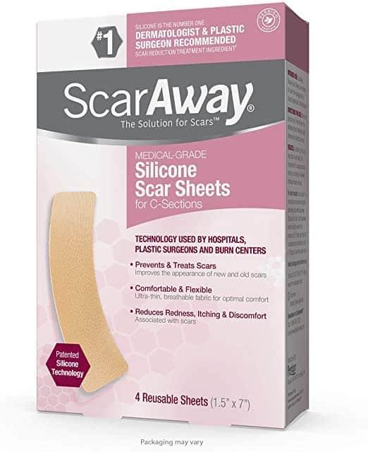 ScarAway parches de silicona de grado profesional para el tratamiento de cicatrices 3.8×7.6cm (12 unidades)
